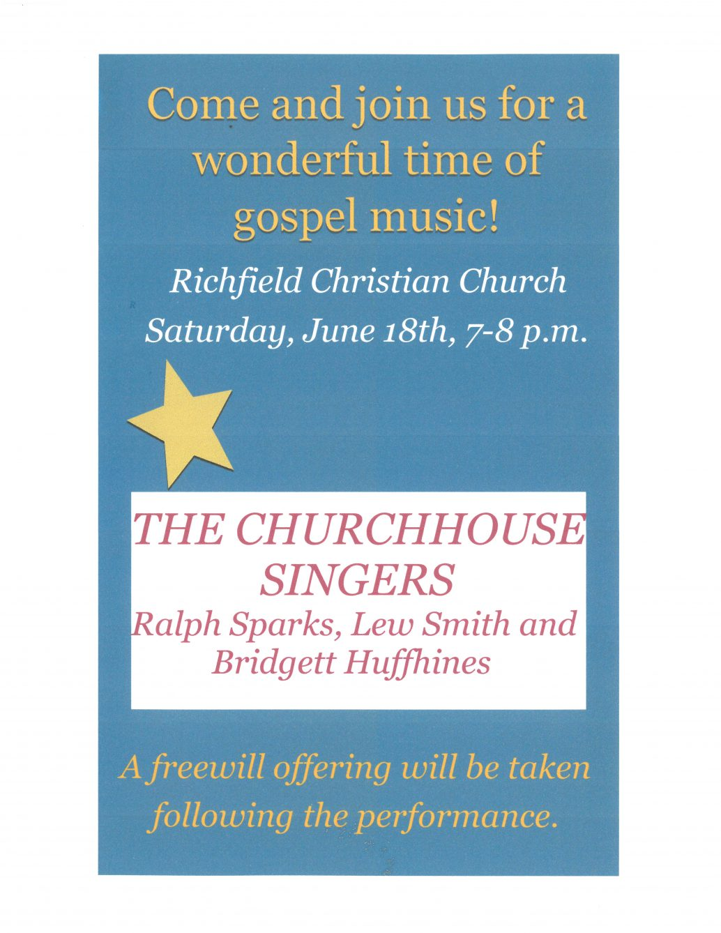 ChurchHouse Singers at Richfield