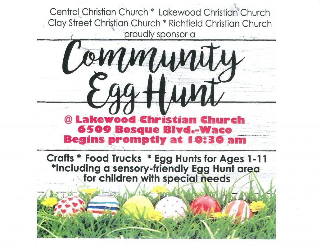 Community Egg Hunt Flyer