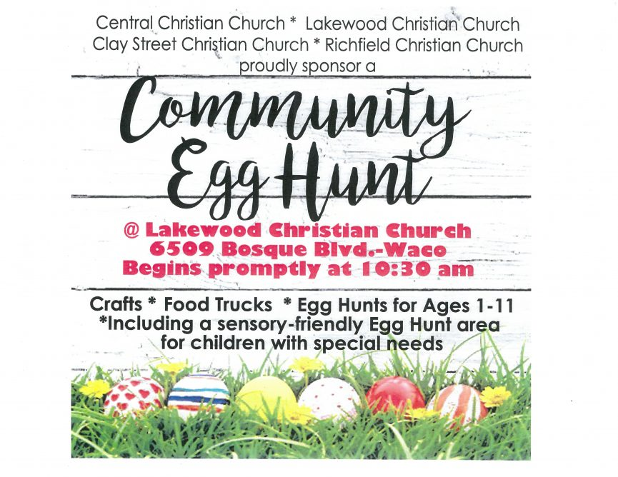 Community Egg Hunt Flyer